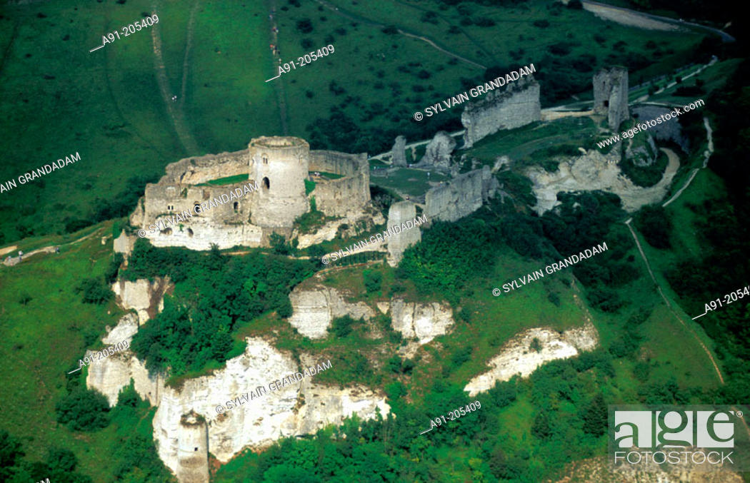 Ruins Of The Old Castle Of Chateau Gaillard Les Andelys Normandie France Stock Photo Picture And Rights Managed Image Pic A91 205409 Agefotostock