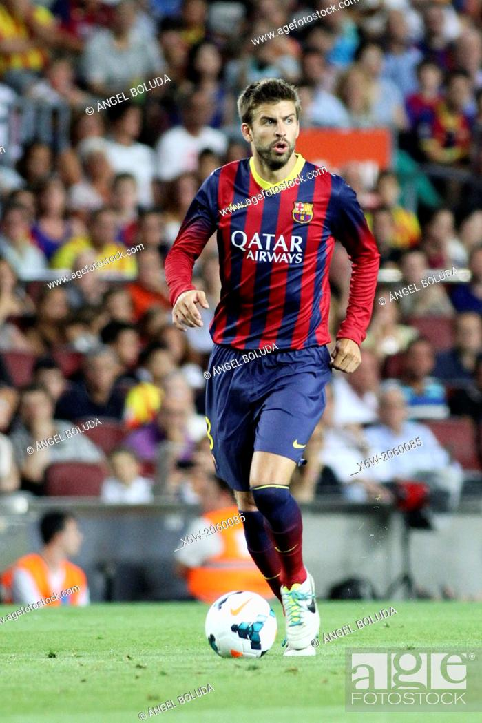 Stock Photo: FC Barcelona. Gerard Piqué in action.