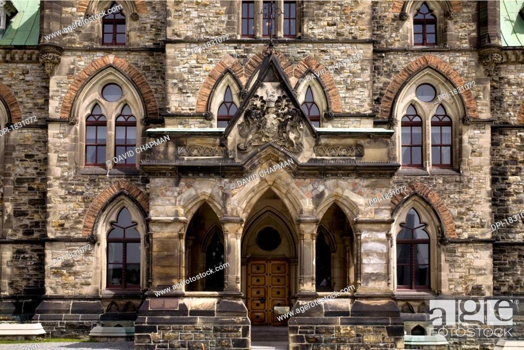 Stock Photo: The East Block Canadian Parliament Buildings, Ottawa, Ontario, Canada.