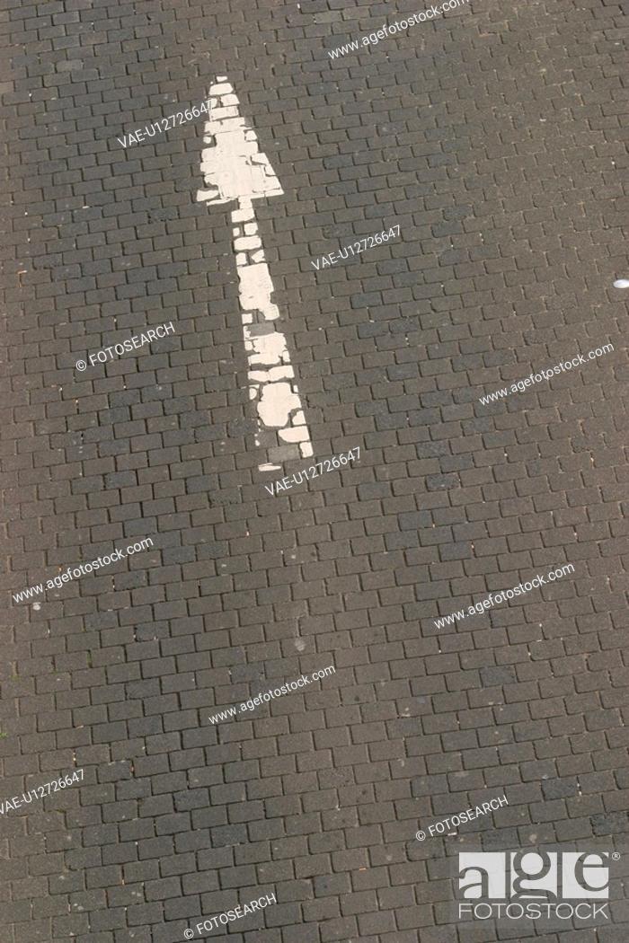 Stock Photo: construction, tarmac, paint, painted, pavement, asphalt.