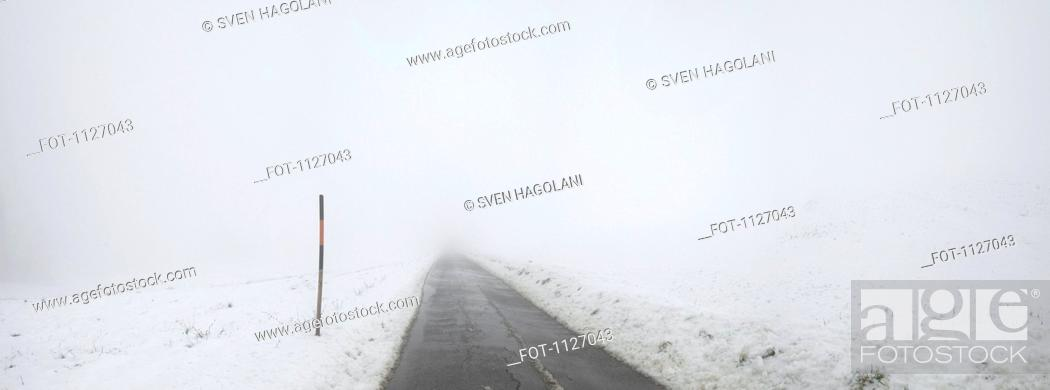 Stock Photo: On the winter road.