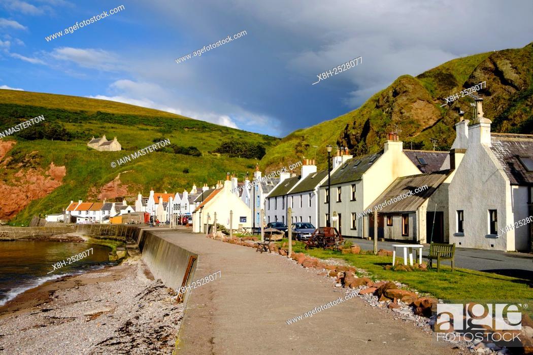 Historic coastal village of Pennan in Aberdeenshire in Scotland