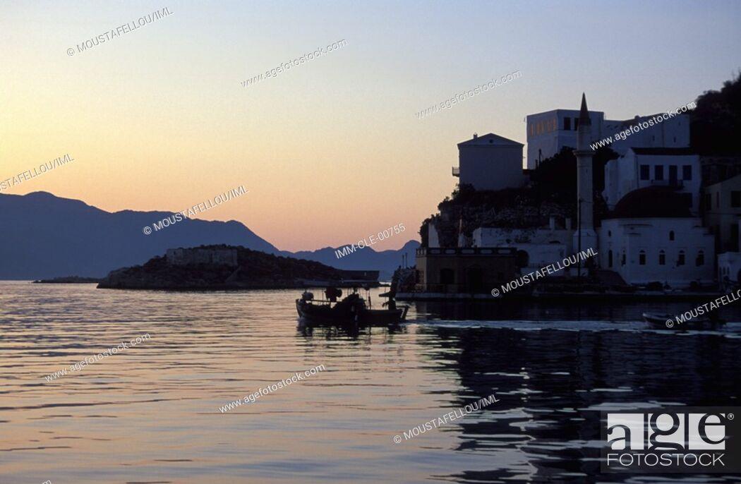 Stock Photo: Castle Kastellorizo, Dodecanese, Greece,.