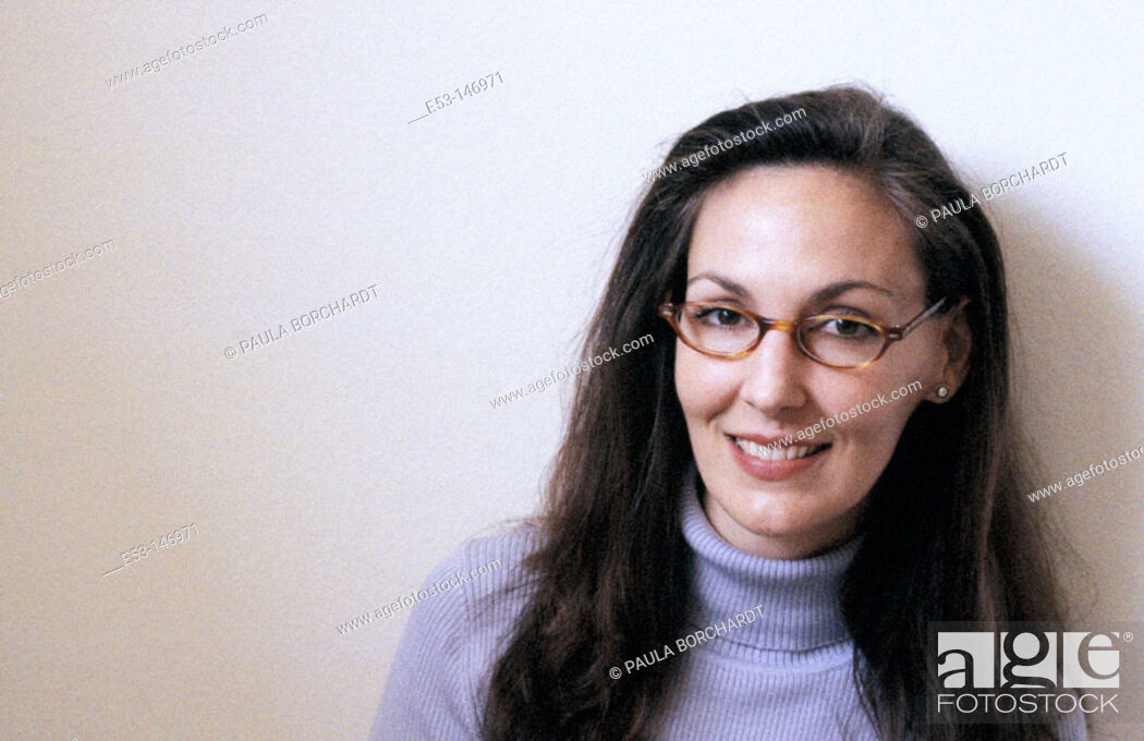 Stock Photo: Woman with glasses.
