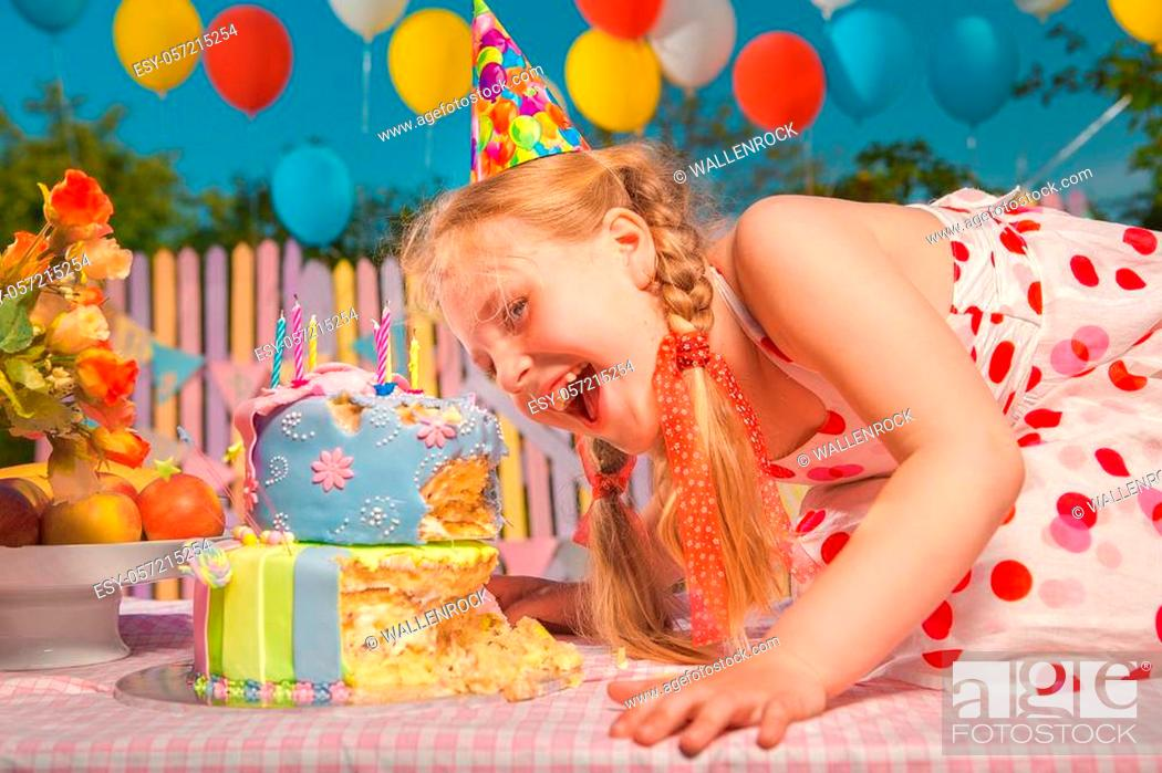 Stock Photo: Little girl in anticipation of the holiday.