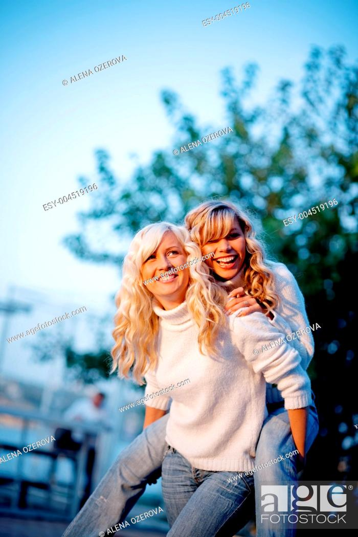 Stock Photo: Girls.