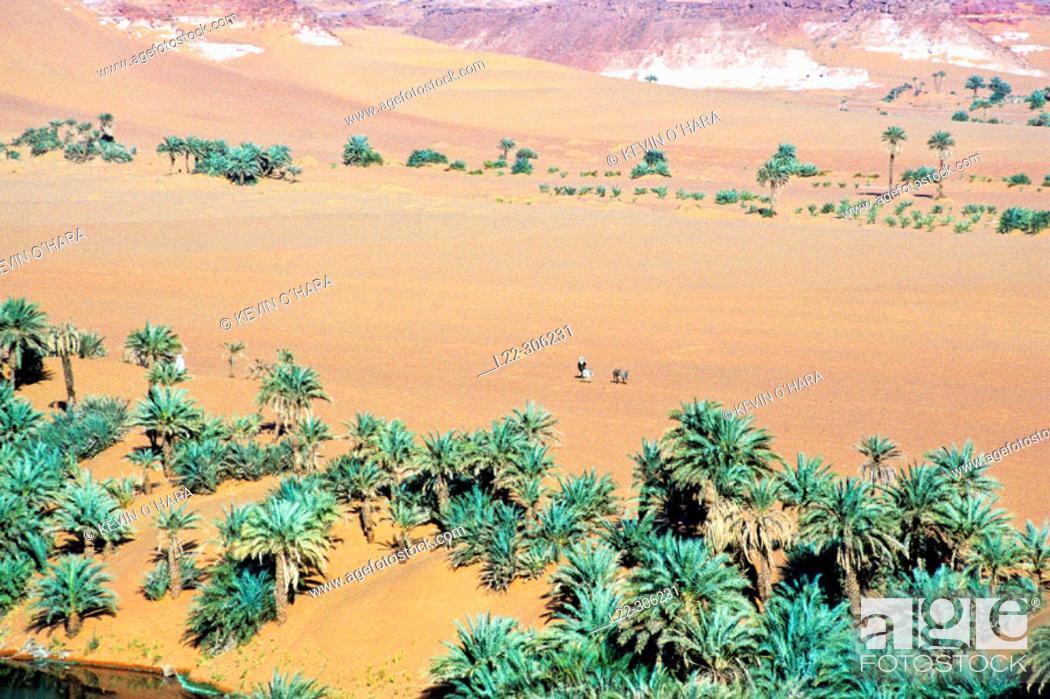 Stock Photo: Yoa Lake. Ounianga Kebir Region. Ennedi Massif. Sahara Desert. Chad.