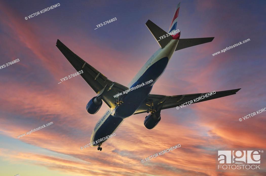 Imagen: British Airways flight taking off to the skies.