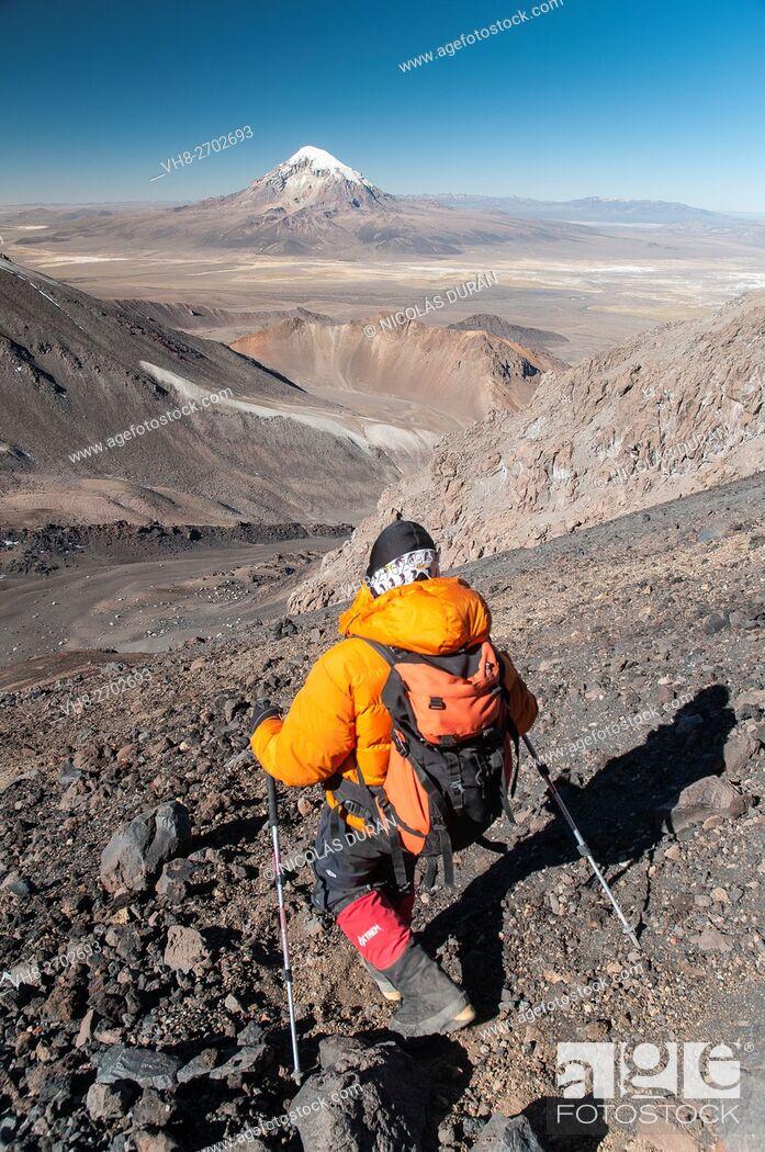 Stock Photo: Parinacota volcano. Sajama National Park. Bolivia.