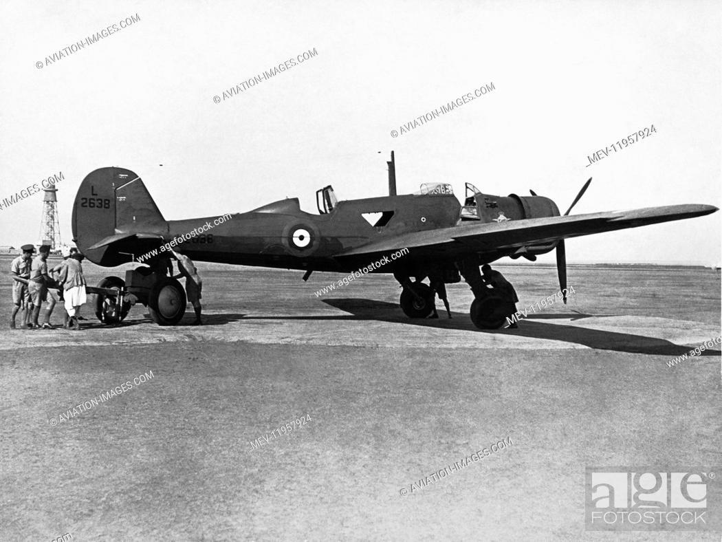 Stock Photo: RAF Vickers Wellesley in Ismailia.