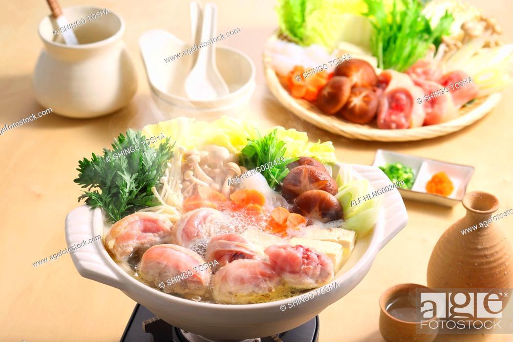 Stock Photo: Japanese style casserole.