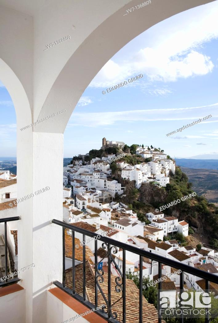 Stock Photo: Views of Casares, Malaga, Andalusia, Spain.