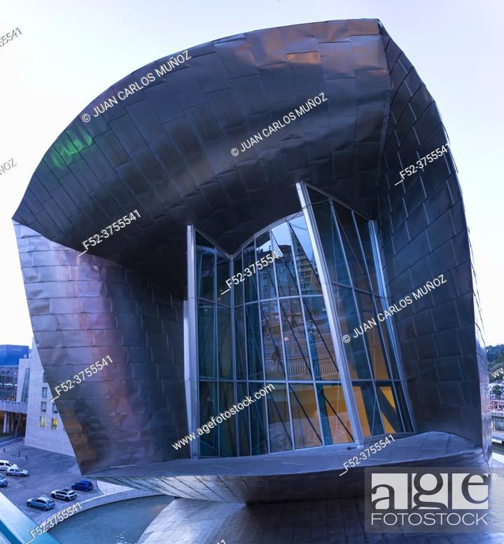 Photo de stock: Guggenheim Museum, Bilbao, Bizkaia, Basque Country, Spain, Europe.