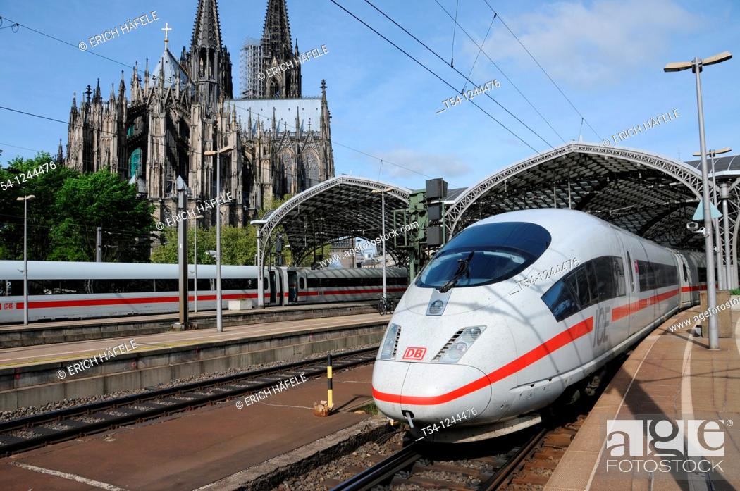 Stock Photo: ICE 3 Train at Cologne main Station.
