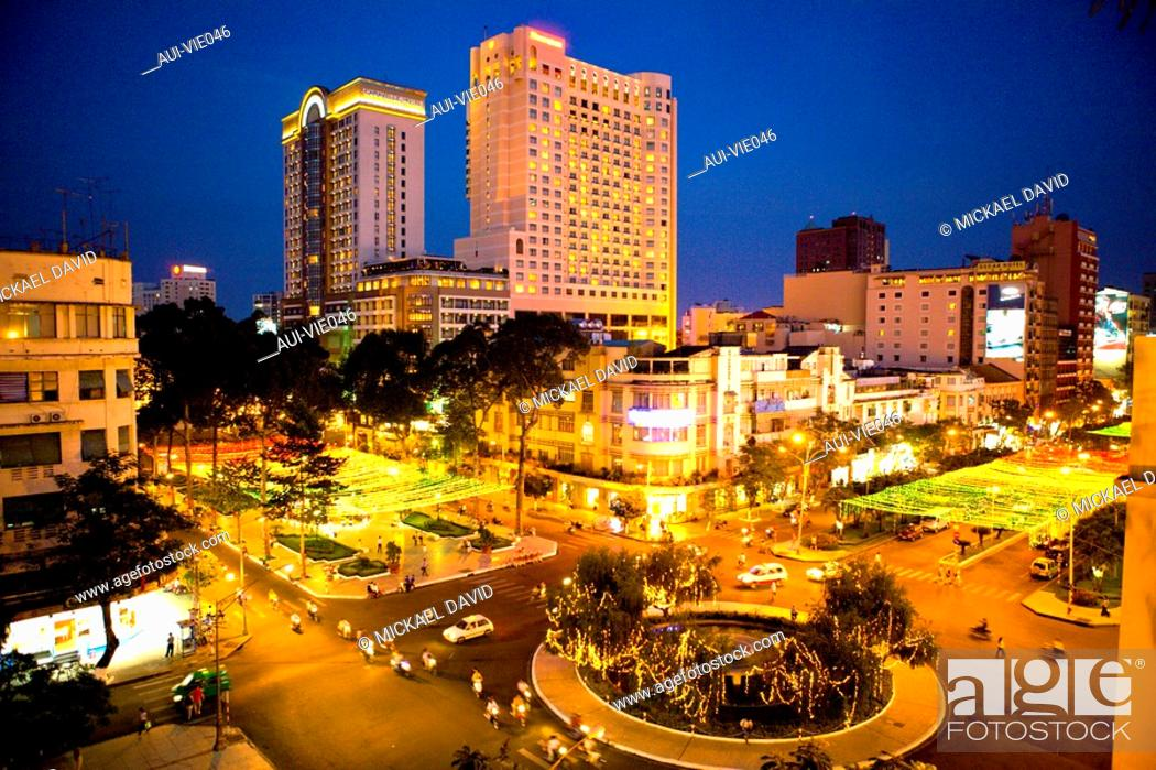 Stock Photo: Vietnam - Ho Chi Minh-City Sa'gon - View from the Rex Hotel.