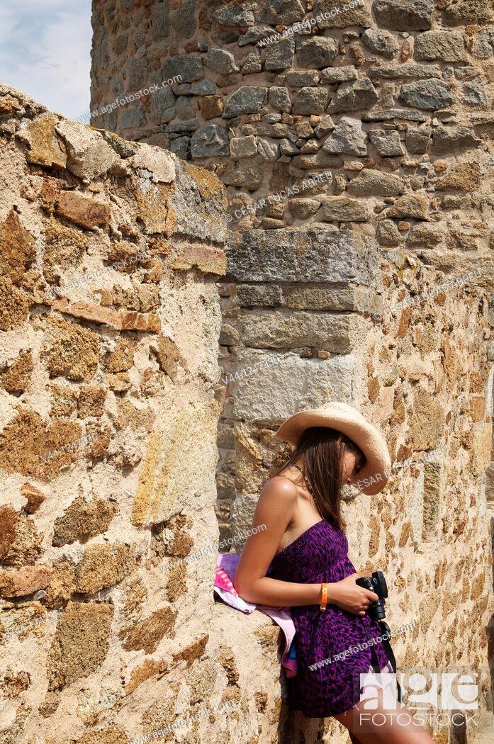 Stock Photo: Tossa de Mar Castle, Costa Brava. Girona, Spain.