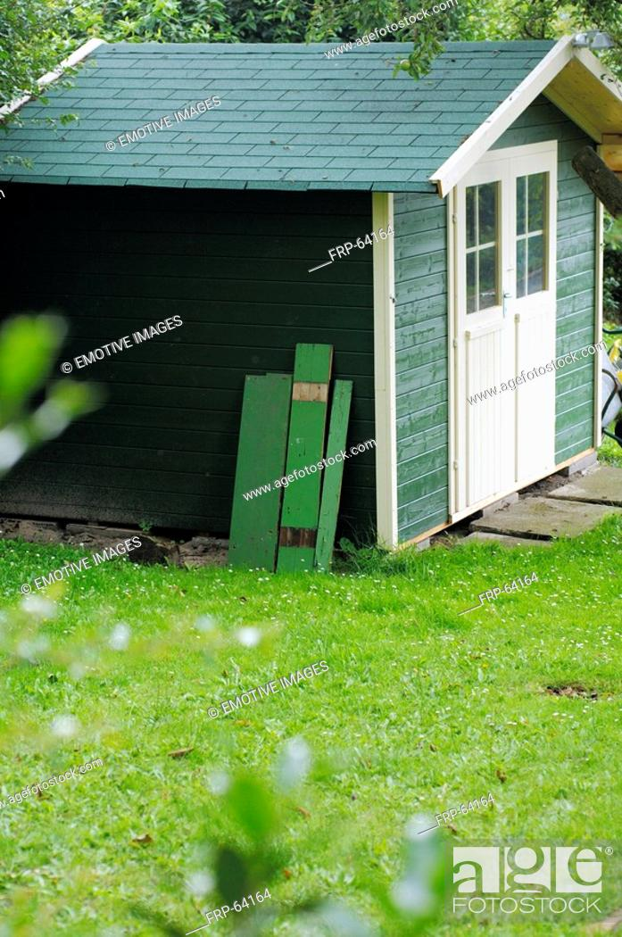 Stock Photo: Garden shed.