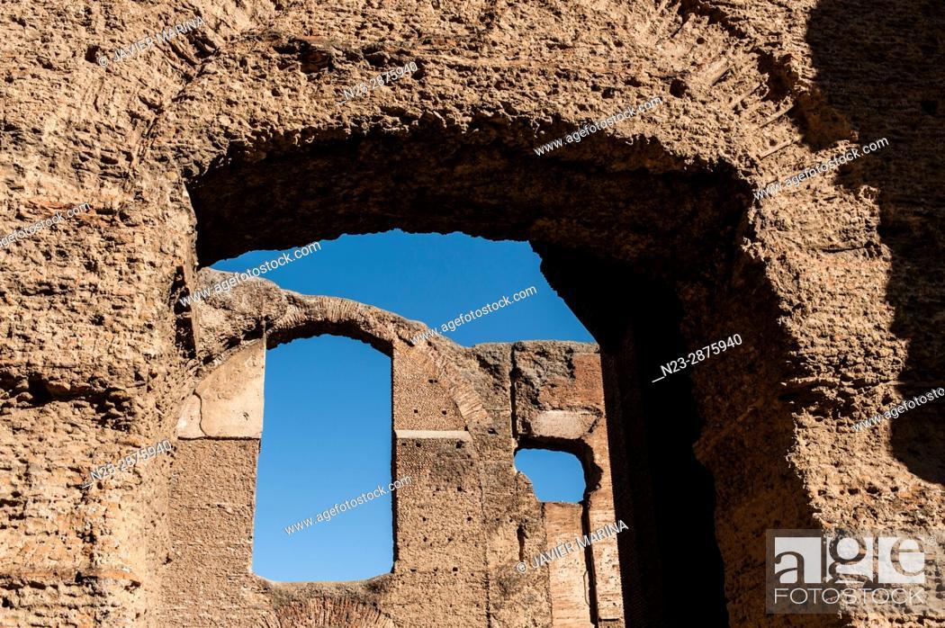 Stock Photo: Baths of Caracalla, Rome, Italy.