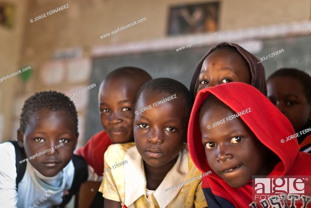 Stock Photo: Kids in the school, Chinotimba, Vicfalls, Zimbabwe, Africa.