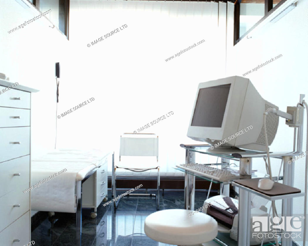 Stock Photo: Computer equipment in hospital.