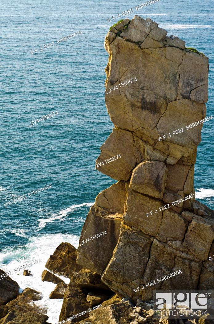 Stock Photo: Liencres  Cantabrian coastline  Santander, Cantabria, Spain.