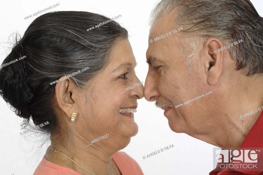 Old man couple