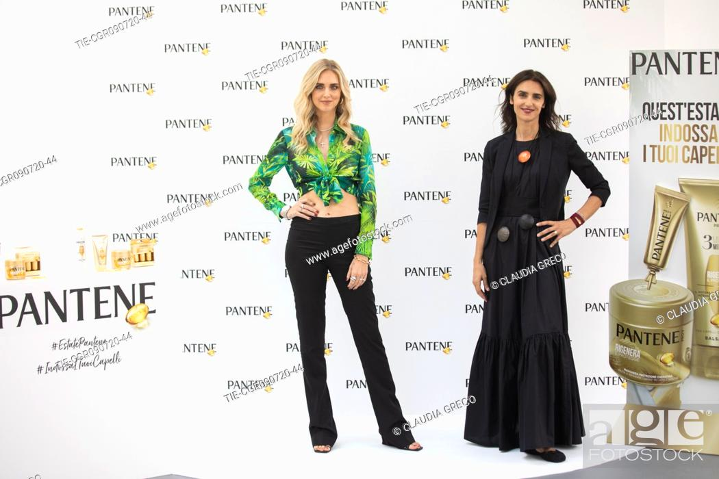 Stock Photo: Italian influencer Chiara Ferragni testimonial of the new spot Pantene Estate and Valeria Consorte Marketing Director Procter and Gamble during the Pantene.