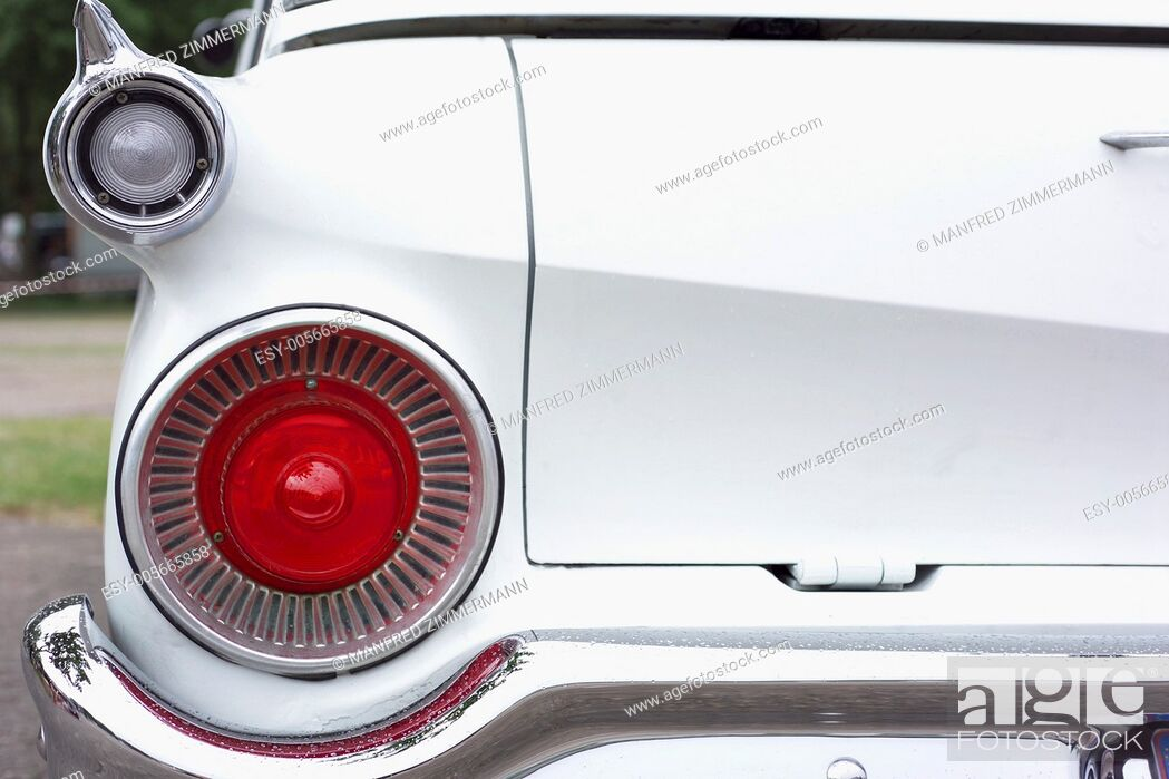 Stock Photo: Detail from the back of a Buick Oldie.