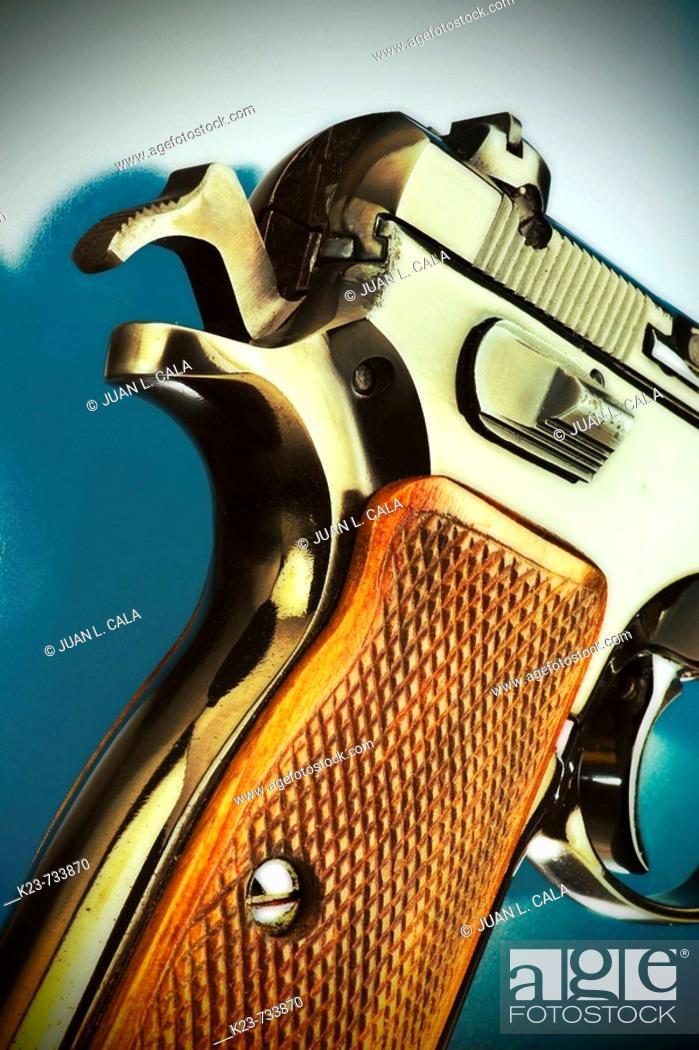 Stock Photo: Detail of gun.
