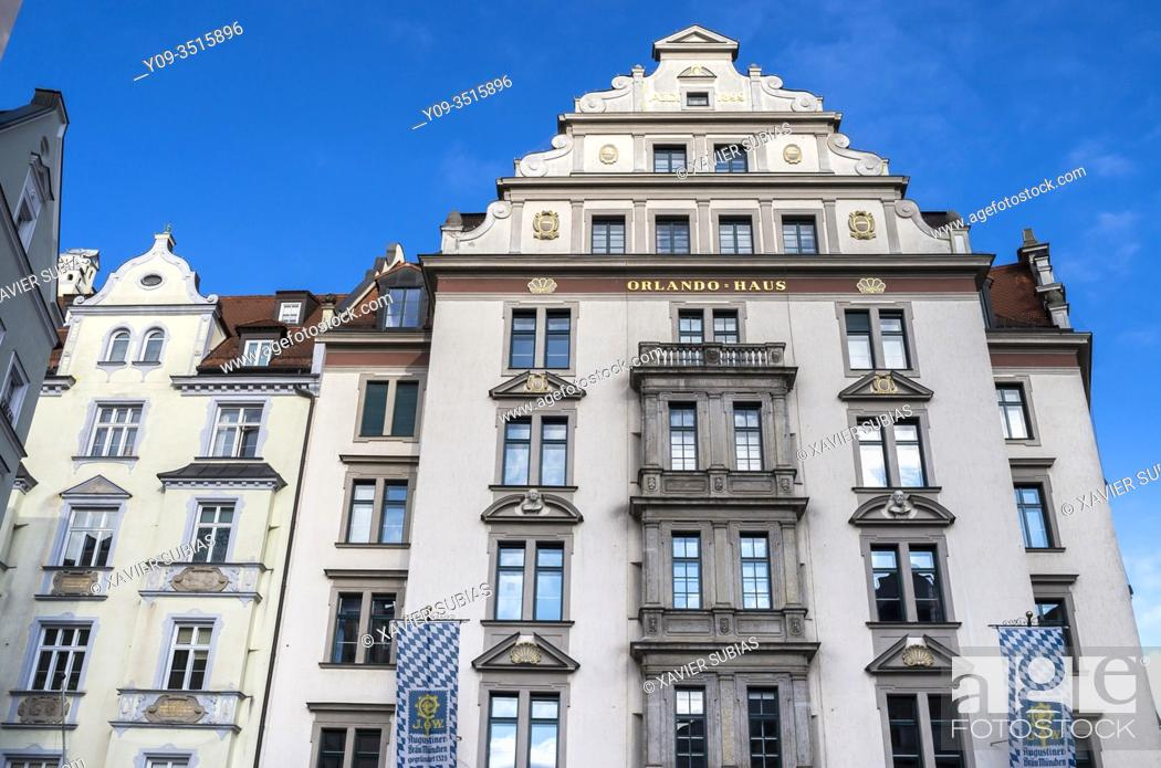 Imagen: Orlando Haus, Historic city center, Munich, Bavaria, Germany.