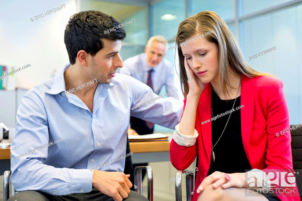 Stock Photo: Business executives in an office.