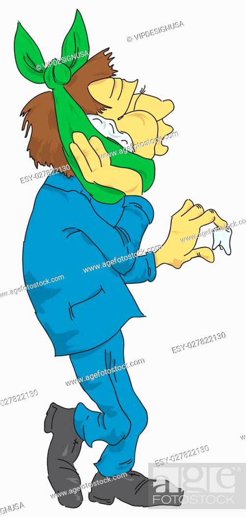 Vector Illustration Of Cartoon Man With A Fallen Tooth Toothache Stock Photo Picture And Low Budget Royalty Free Image Pic Esy 027822130 Agefotostock