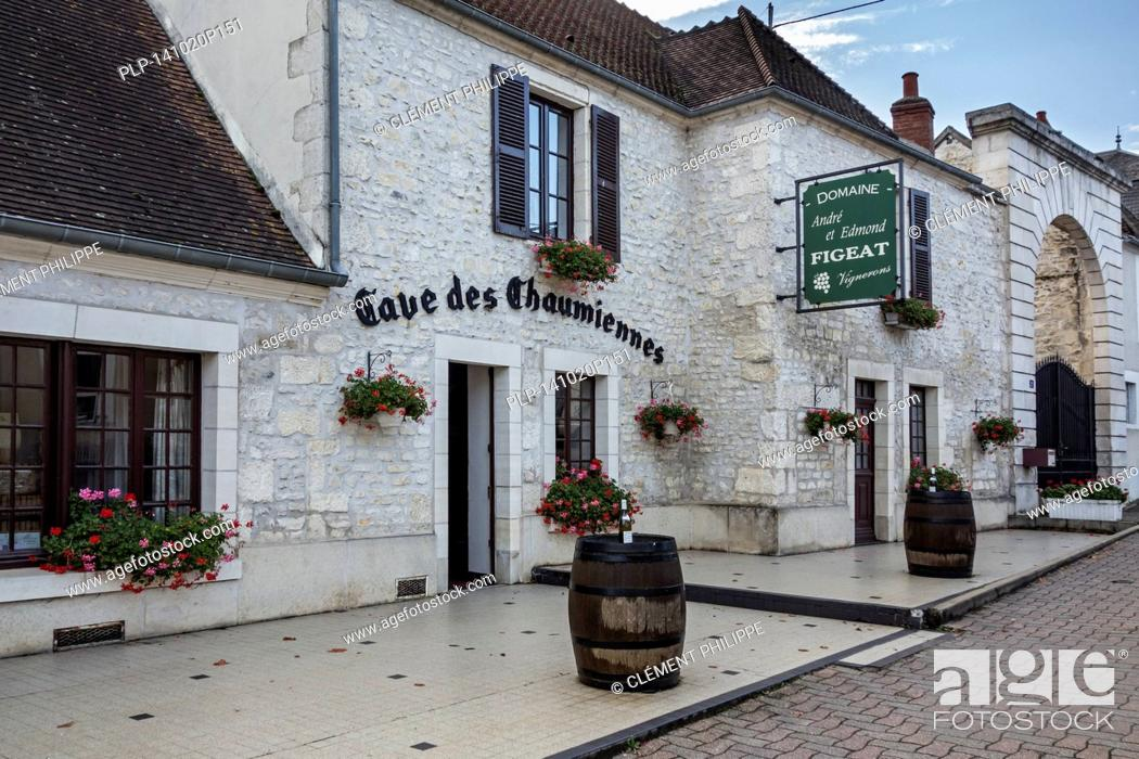 Stock Photo: Signboard for Pouilly-Fumé white wine at Pouilly-sur-Loire, Burgundy, Nièvre, France.