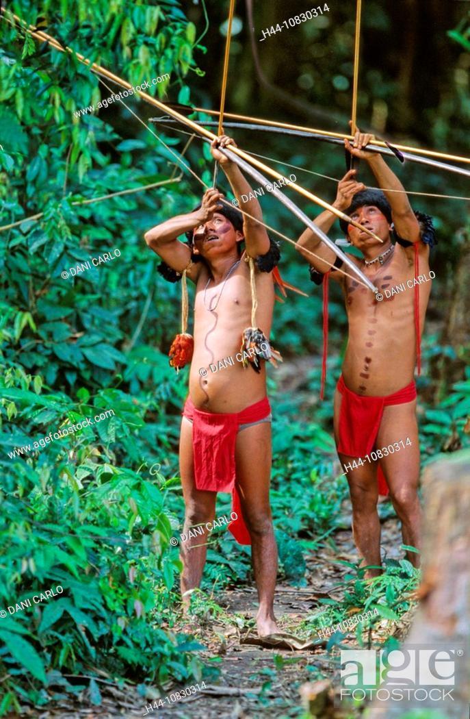 Artesanato Halloween Eva ~ Venezuela, South America, Yanomami, Ironavi Tribe, Indios, Hunter, Bow, Arrow, Men, Man, Archers