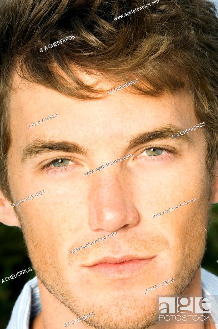 Stock Photo: Close-up of a man.