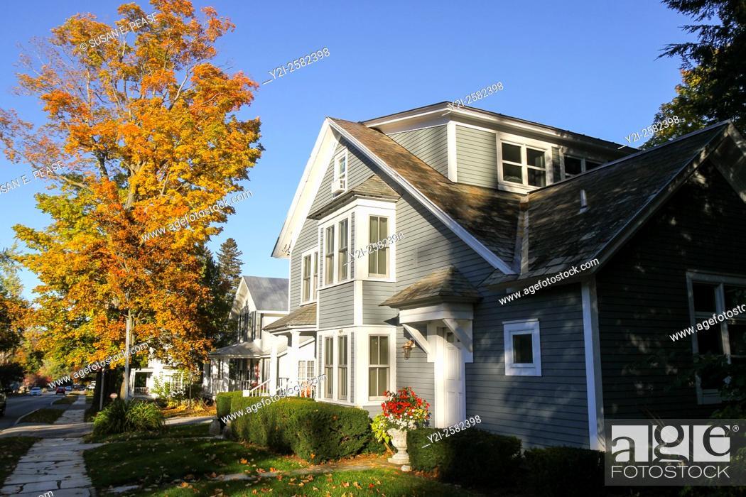 Stock Photo: Mancheseter, Vermont, United States, North America.