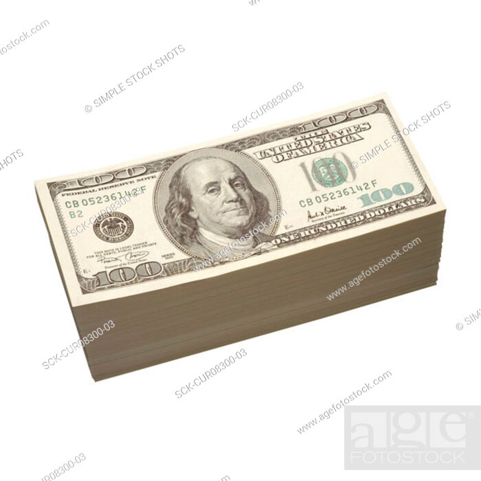 Stock Photo: pile of US dollars.