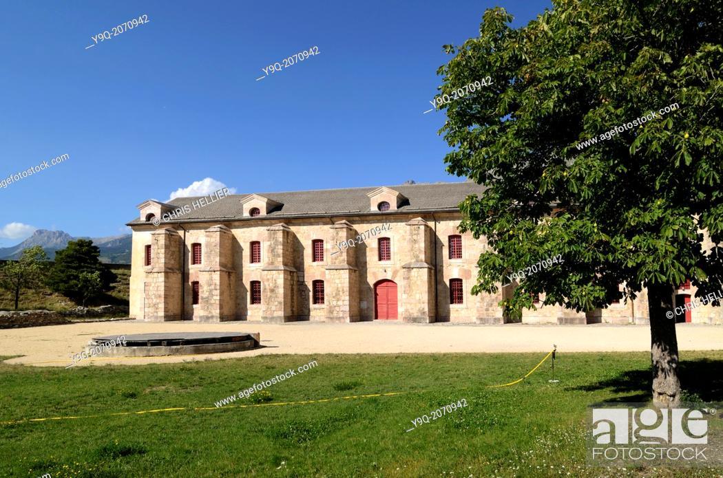 Stock Photo: Military Arsenal Mont-Dauphin Hautes-Alpes France.