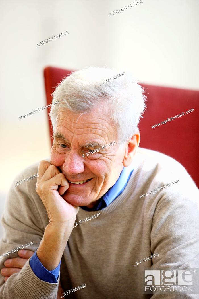 Stock Photo: Portrait of a senior man.