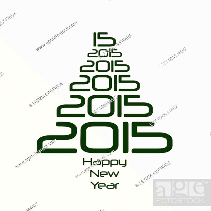 Stock Vector: Abstract Background - Happy New Year 2015.