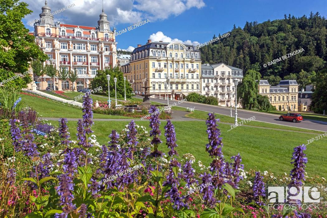 Imagen: Goethe Square, Marianske Lazne (Marienbad), a spa town, West Bohemia, Czech Republic.