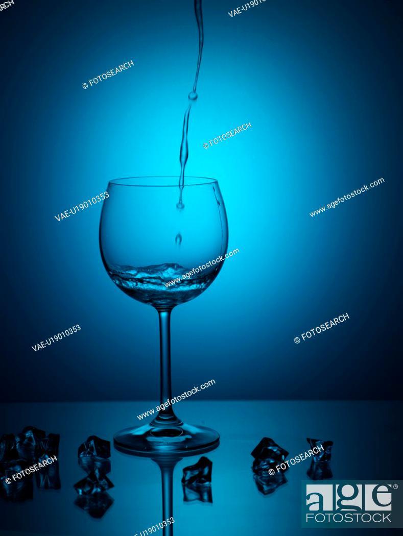Stock Photo: wine glass, house item, light, water, glass.