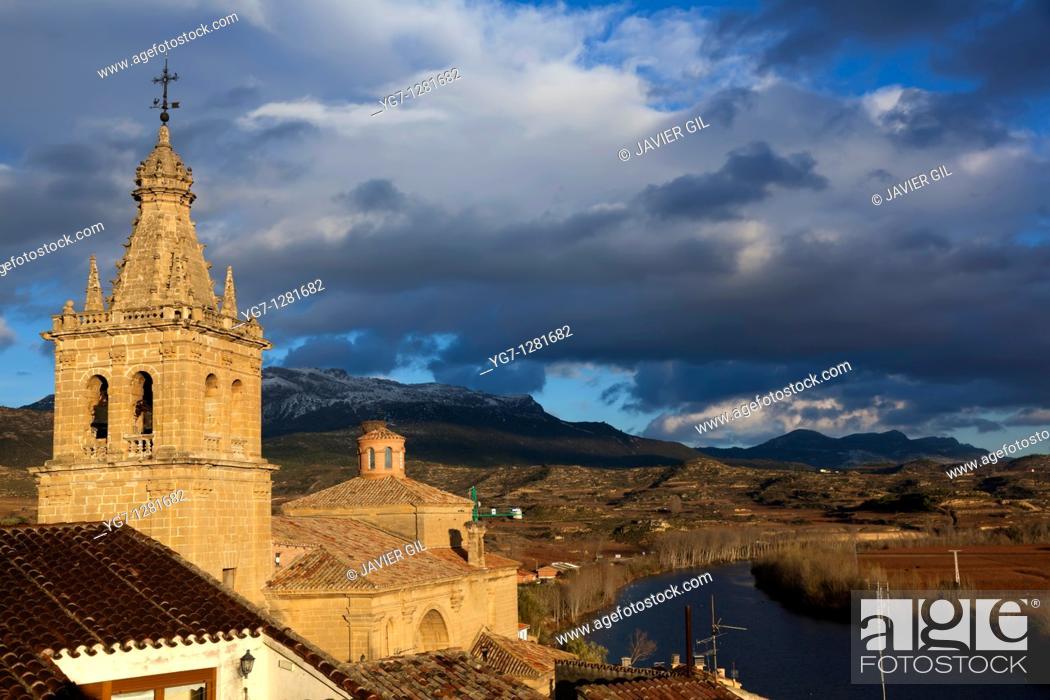Stock Photo: Briñas, La Rioja, Spain.