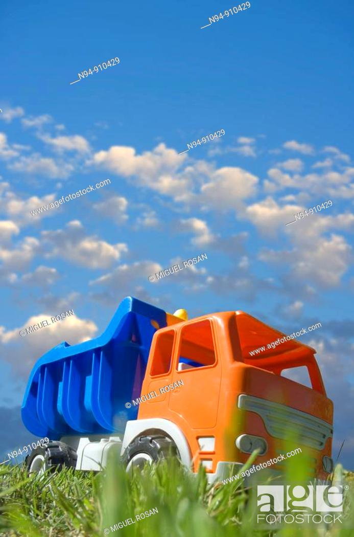 Stock Photo: Toy truck.