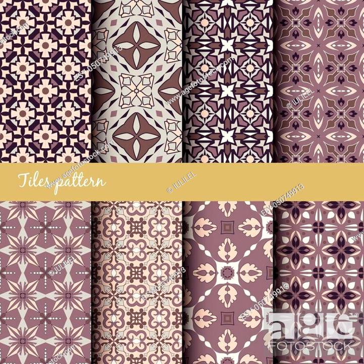 Vector Seamless Texture Collection Set Of Beautiful Colored Patterns For Design And Fashion With Stock Vector Vector And Low Budget Royalty Free Image Pic Esy 050749913 Agefotostock