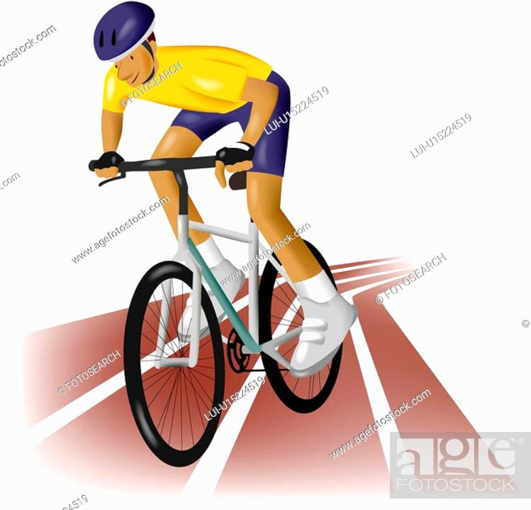 Stock Photo: bicycle, games, sports equipment, outdoors, athlete, Olympic.