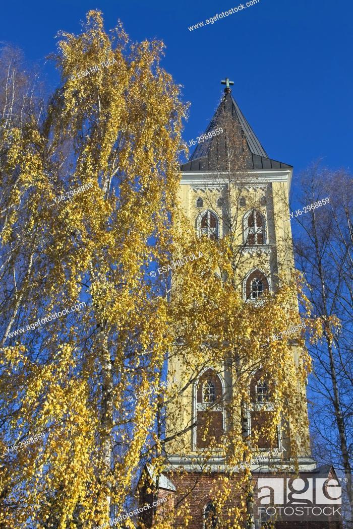 Stock Photo: Church bell tower, Lappeenranta Finland.