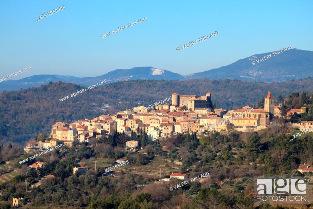 Stock Photo: Medieval village of Callian, Var, 83, Provence, PACA, France.
