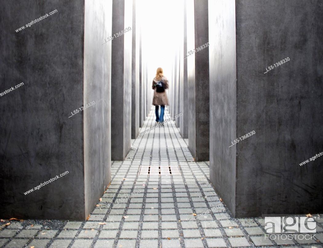 Stock Photo: Berlin Holocaust memorial, Berlin, Germany.