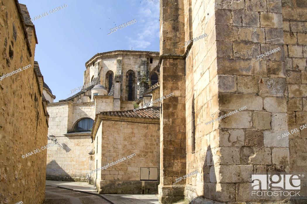 Stock Photo: Cathedral in Burgo de Osma village Soria province Castile Leon Spain.